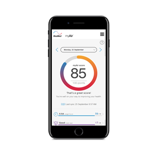 myair-patient-coaching-app-therapy-follow-up-score-resmed